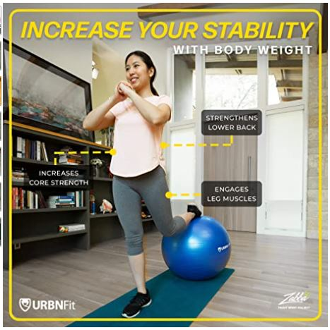 Exercise Ball for Fitness, Stability, Balance and Yoga